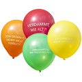 Abusive Rude Vulgar Birthday Party Balloons Messages in German