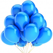 AIERNUO 100 pcs Blue Balloons 25cm #6 Latex Kids' Party Decorator Navy Blue