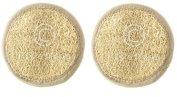 Hydrea Organic Egyptian Loofah Facial Cleansing & Exfoliating 10cm Pad Twin Pack