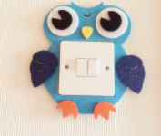 Owl Light Switch Wall Stickers, Blue And Pink 2 Colours Available! Unique On Amazon! Kids Children Boys Girls Room Nursery Decor! Free Delivery In 2 To 3 Working Days!