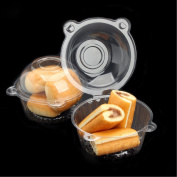 MultiWare 50 Pcs Clear Cupcake Boxes Single Cake Holders Plastic Cupcake Cases