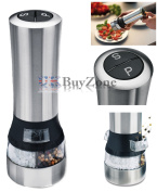 Stainless Steel Electric Salt and Pepper Mill Set