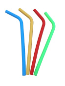 Reusable Straws 4 Pack Food Grade Silicone Drinking Straws Perfect As Smoothie Straws Party Straws Kids Straws