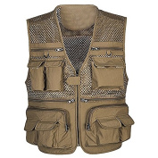 Fish Breathable Mesh Fishing Waistcoat with Multiple Pockets for Men