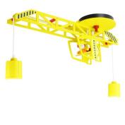 Elobra Ceiling Light for Child's Bedroom Crane Design Yellow