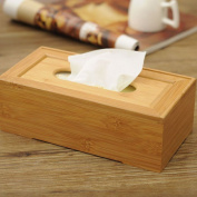 MyLifeUNIT Bamboo Rectangular Kleenex Tissue Box Cover Holder