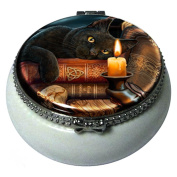Witching Hour Black Cat Mini Trinket Box By Lisa Parker