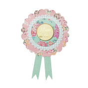 """Talking Tables 22 x 16.5 x 0.8 cm Truly Baby """"Mum To Be"""" Rosette Badge, Multi-Colour"""