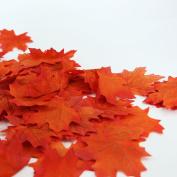 100pcs Artificial Autumn Maple Leaves Autumn Decorations Multi Coloured Leaf