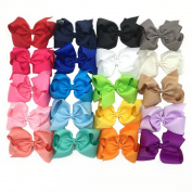 XIMA 20pcs 13cm Big Hair Bows without Clips for Girls and Women DIY Bows Clips