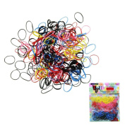 Canserin 500pcs/lot Rubber Hairband Rope Ponytail Holder Elastic Hair Band Ties Braids