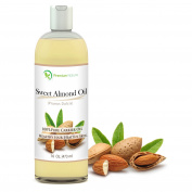 Sweet Almond Oil 470ml - Carrier Oil, Cleansing Properties, Evens Skin Tone, Treats Irritated Skin, Nourishes, Moisturises & Prevents Ageing- By Premium Nature