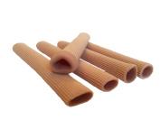 LOTGO Adjustable 15cm Gel Tube Finger Protector Toe Separators for Bunions Sore Corns Hammertoes ,Use as Protectors for Sore Toes and Fingers