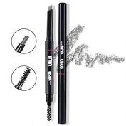 Hey Beauty Eyebrow Pencil Waterproof Automatic Brush Makeup Cosmetic Tool,Grey-1#