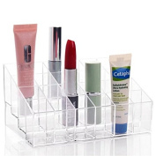 EYX Formula Transparent Cosmetic Storage organiser ,Standard Size for Lip Gloss,Beauty Container for Bathroom Display