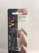 NYC Ultra Last Lipwear Lipstick Long-wearing, feather proof- BRANDY SPARKLE #415