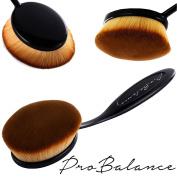 Great Gift Idea New Profesional Pro Balance Soft Hair Oval Makeup Brush Sets 10 Pcs Smooth Cosmetics wow Artis Toothbrush Brushes Foundation Eyeshadow Eyeliner Lip Contour Kit