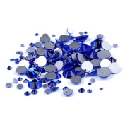 Nizi Jewellery Sapphire Colour Rhinestones For Nails Mixed Sizes About 1000pcs