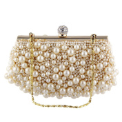 TOPCHANSE Fashion Satin Beaded Embroidery Handbag Wedding Party Prom Clutch Purse Evening Bag Satchel