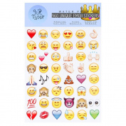 UrToyHut 960 Most Popular Emoticons - 20 Sheets of Emojis- Water Resistence Cover- Vibrant Colour - Easy to Use
