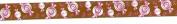 Satin Ribbon Brown w/Pink Candies - 2 Yards