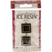 Ice Resin Milan Bezels Closed Back Square Small-Antique Bronze