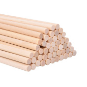 eBoot Unfinished Natural Wood Craft Dowel Rods 30cm x 1/ 10cm , 50 Pack
