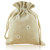 G2PLUS® 20 PCS Cotton Burlap Drawstring Pouches Gift Bags Wedding Party Favour Jewellery Bags