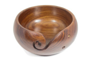 Yarn Bowl - Wooden, Handmade, Portable, Sturdy, Beautiful and Unbreakable - Also Makes a Great Gift