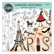 Ellison Sizzix Hipster Doodles Colouring Book by Lindsey Serata