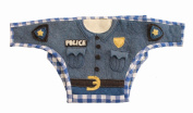 Silk Road Bazaar The Police Officer Nappy Cover, Blue/Yellow