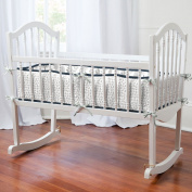 Carousel Designs Navy and Grey Woodland Cradle Bumper
