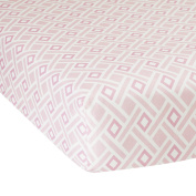 Lambs & Ivy Classic Pink Collection Diamond Fitted Crib Sheet