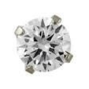 Studex System 75 ear piercing studs long post 3mm silver cubic zirconia 7542-0100-23