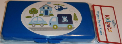 Blue Car, Truck, And Helicopter Baby Wipes Case