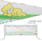 Brights Two Oxford Cloth and Cotton Made Safety Bedrail In Dizzy Bear Design For Sleeping Baby 180 CM