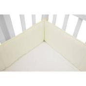 TL Care Cotton Percale Mini Crib Bumper, Ecru