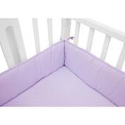 TL Care Cotton Percale Mini Crib Bumper, Lavender