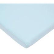 TL Care 100 Percent Cotton Jersey Knit Cradle Sheet, Blue