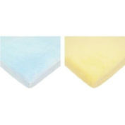 TL Care Heavenly Soft Chenille Cradle Sheet, Blue