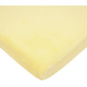 TL Care Heavenly Soft Chenille Cradle Sheet, Maize