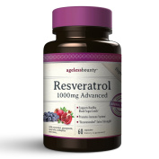 Resveratrol 1000mg Advanced with 6 additional powerhouse antioxidants |The most complete and advanced Resveratrol supplement | With grape seed extract, Acai, Quercetin, Pomegranate and acidophilus