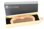 Master Panda Love Beard Comb - 100% Pear Wood, No Static & No Snag   Handmade for Beards, Moustaches and Hair with a Premium Gift box