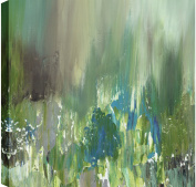 """HobbitHoleCo """"Sunny Pond I Abstract"""" Hand Embellished Acrylic on Canvas Hand Painted by Sanjay Patel Graphic Wall Art"""