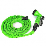 OGIMA 23m Expanding Hose Magic Flexible Expandable Garden Water Hose With 7 Functions Spray Nozzle and Shut-off Valve-Green Size: 23m Colour