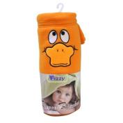 Orange Fleece Baby Blanket