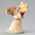 Enesco Heart of Christmas Mouse with Cheese Star Figurine 5.3cm
