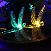 Battery Outdoor String Lights,ER CHEN(TM) 6.1m 30 LED Dragonfly Battery Opetated String Fairy Waterproof Lights Christmas String Lights for Garden, Patio, Yard, Home, Christmas Tree
