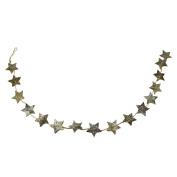 170cm Brown Glittered Birch Bark Star Novelty Christmas Garland- Unlit