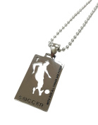 """Christian Stainless Steel Sport Medal Necklace - Chain Included """"with God all things are possible"""" Christian Sport Medal"""